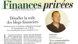 Le Blog Finance prescripteur dans la blogosphère.